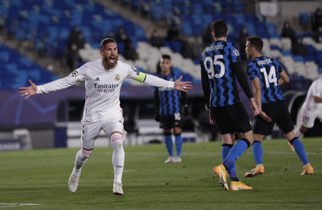 Sergio Ramos scores his 100th goal for Madrid
